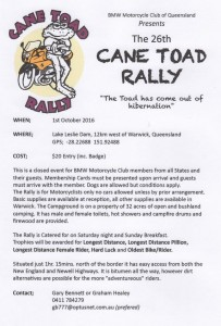 Cane Toad Rally @ Lake Leslie Dam | Warwick | Queensland | Australia