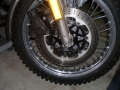 ZX7 disc on owner made disc carrier and caliper stand off bracket